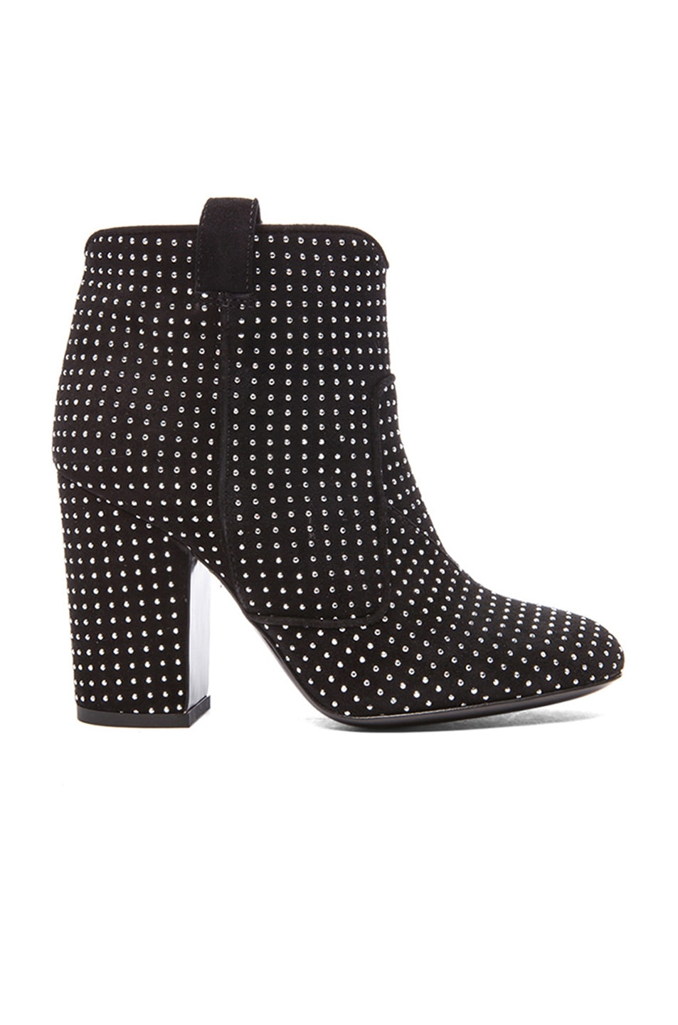 Image 1 of Laurence Dacade Pete Suede Studded Booties in Black & Silver