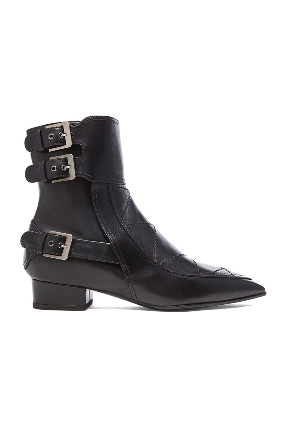 Image 1 of Laurence Dacade Gepetto Leather Booties in Black Leather