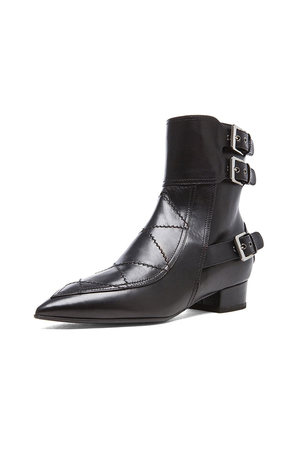 Image 2 of Laurence Dacade Gepetto Leather Booties in Black Leather