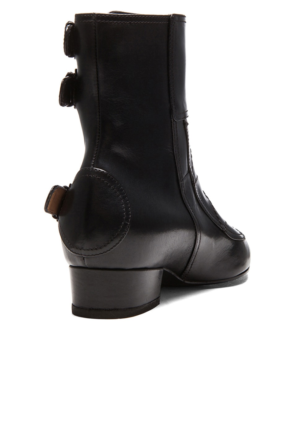 Image 3 of Laurence Dacade Gepetto Leather Booties in Black Leather