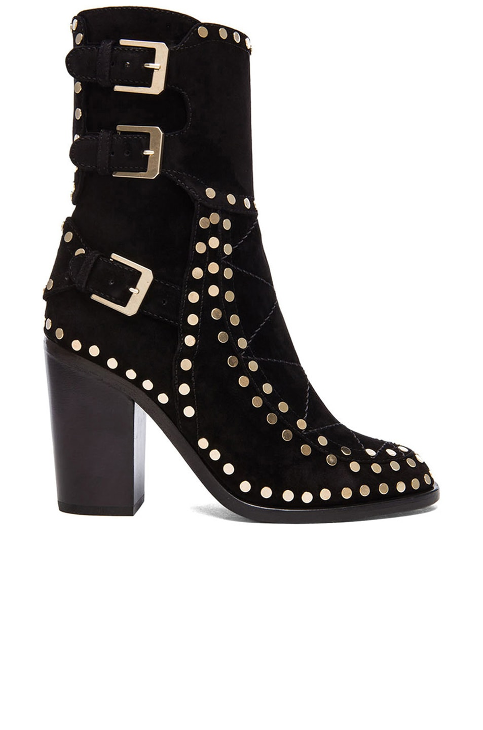 Image 1 of Laurence Dacade Gehry Booties in Black & Gold