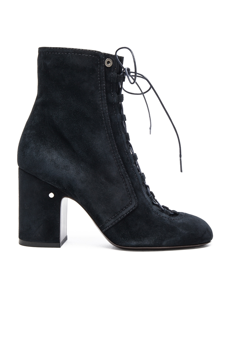 Image 1 of Laurence Dacade Suede Milly Booties in Dark Navy