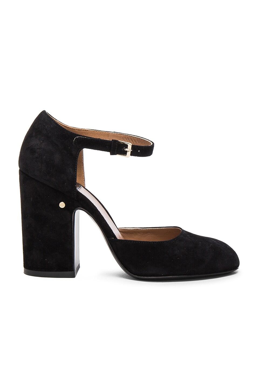 Image 1 of Laurence Dacade Suede Mindy Heels in Black