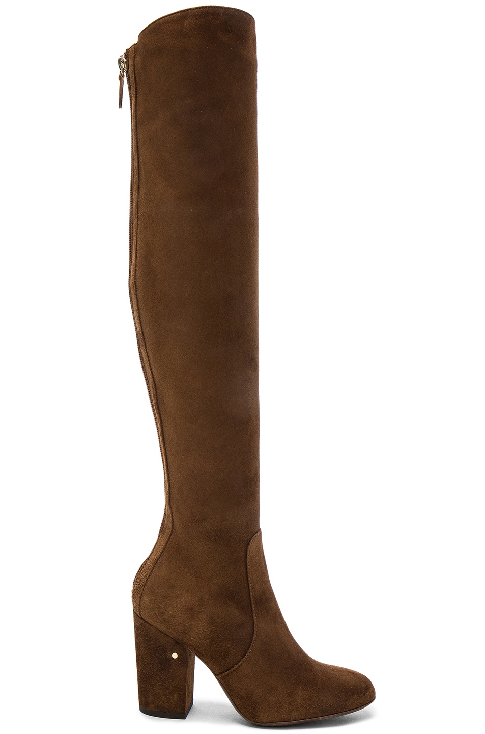 Image 1 of Laurence Dacade Suede Illusion Boots in Cognac