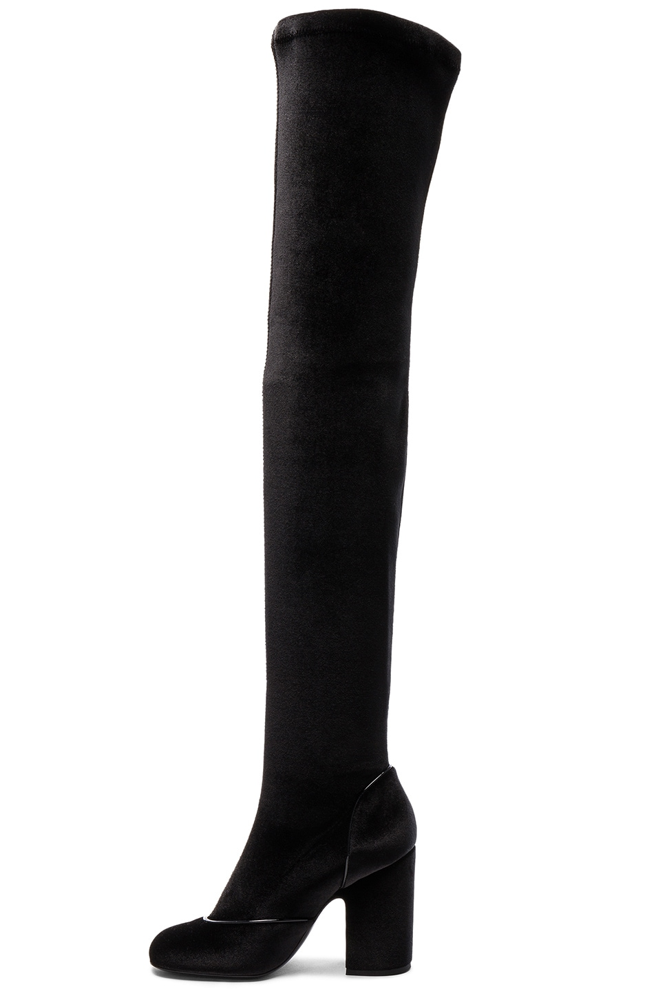 52bca74ae4f Image 5 of Laurence Dacade Velvet Madison Boots in Black