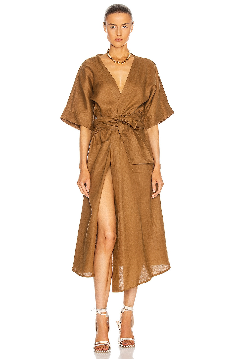Image 1 of LE BUNS Lilly Robe in Cinnamon