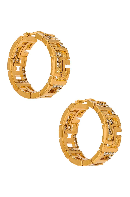 Image 1 of LEDA MADERA Goldie Earrings in Gold & Swarovski Crystals