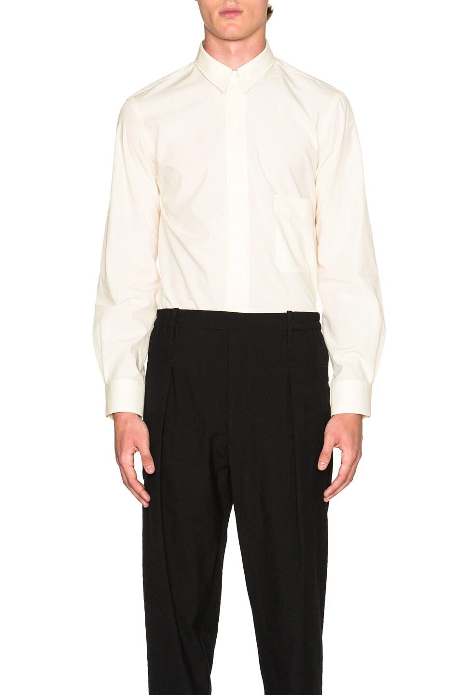 Lemaire Soft Cotton Poplin Detachable Collar Shirt In Butter Fwrd