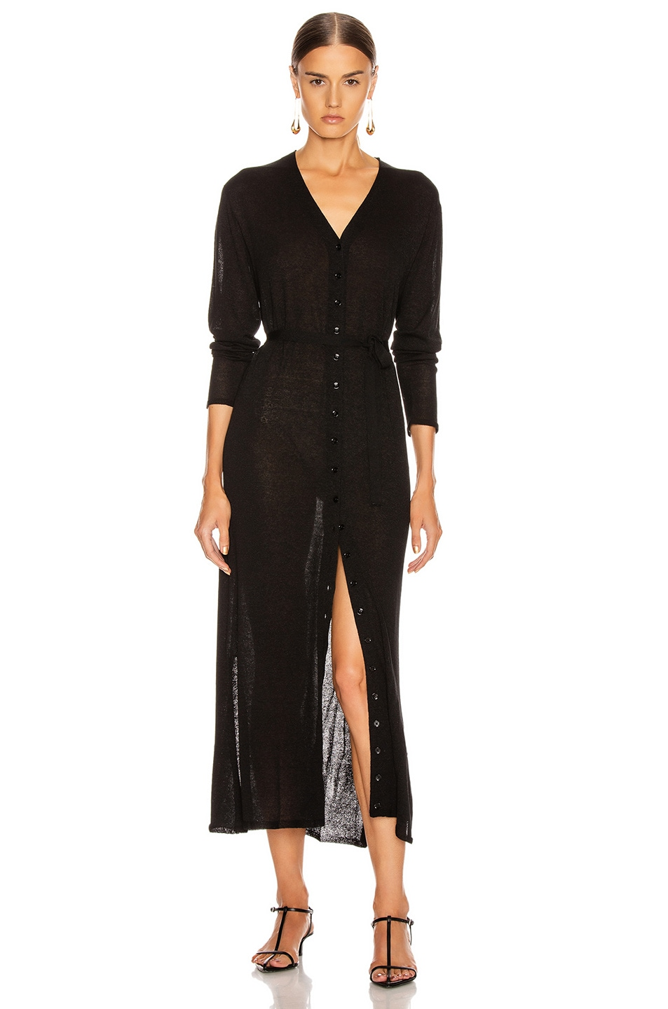Image 1 of Lemaire Cardigan Dress in Black