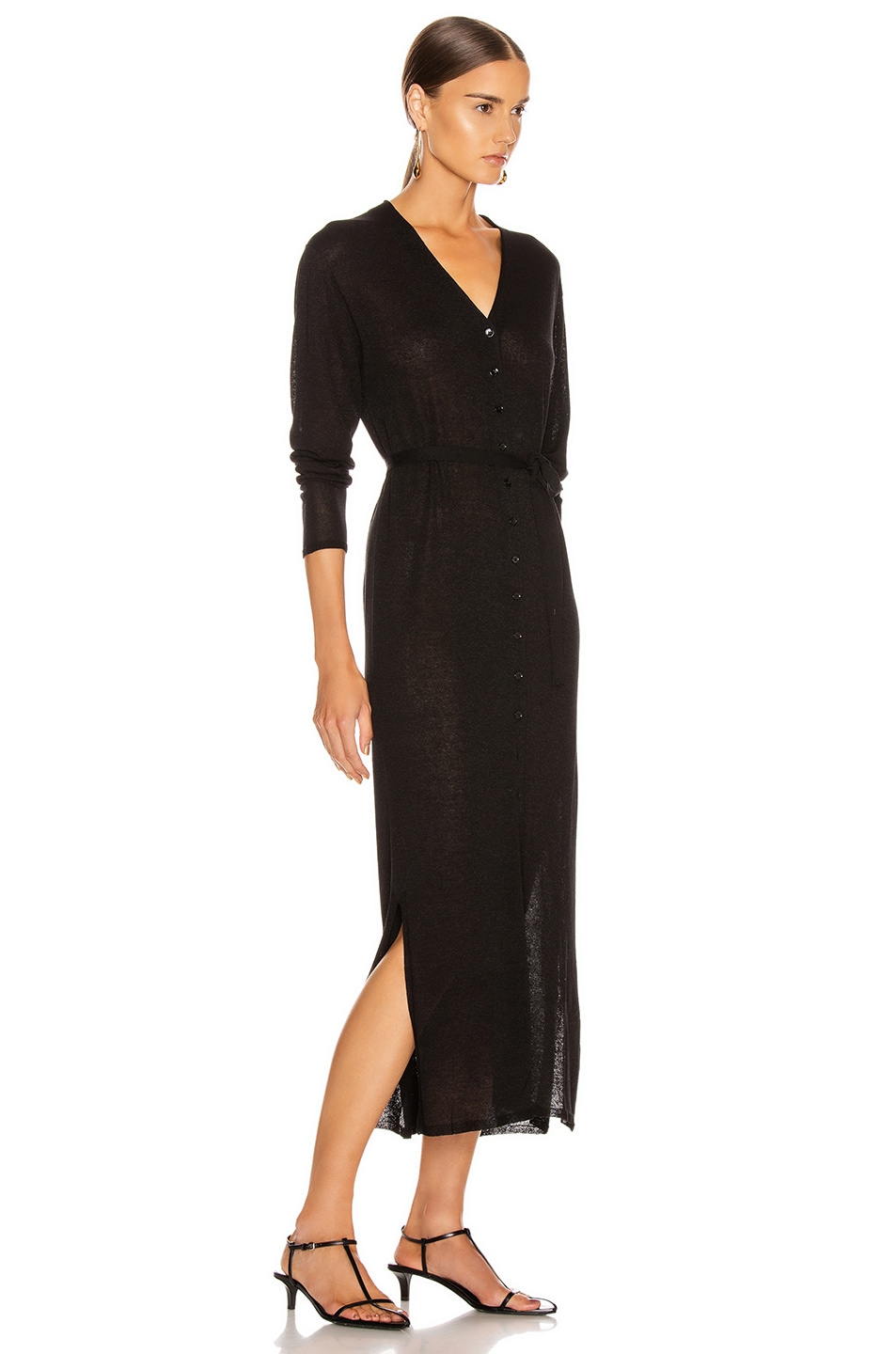 Image 2 of Lemaire Cardigan Dress in Black