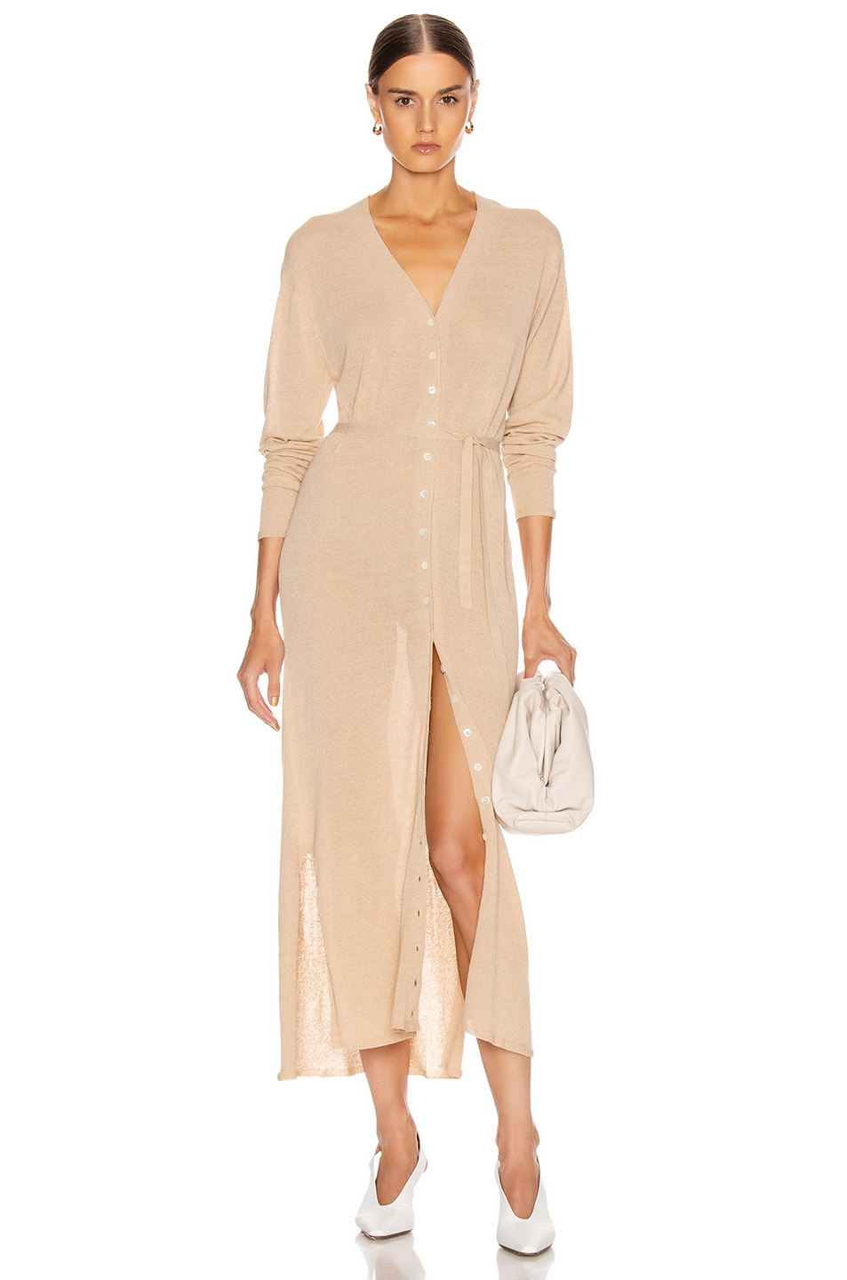 Image 1 of Lemaire Cardigan Dress in Ginger Beige