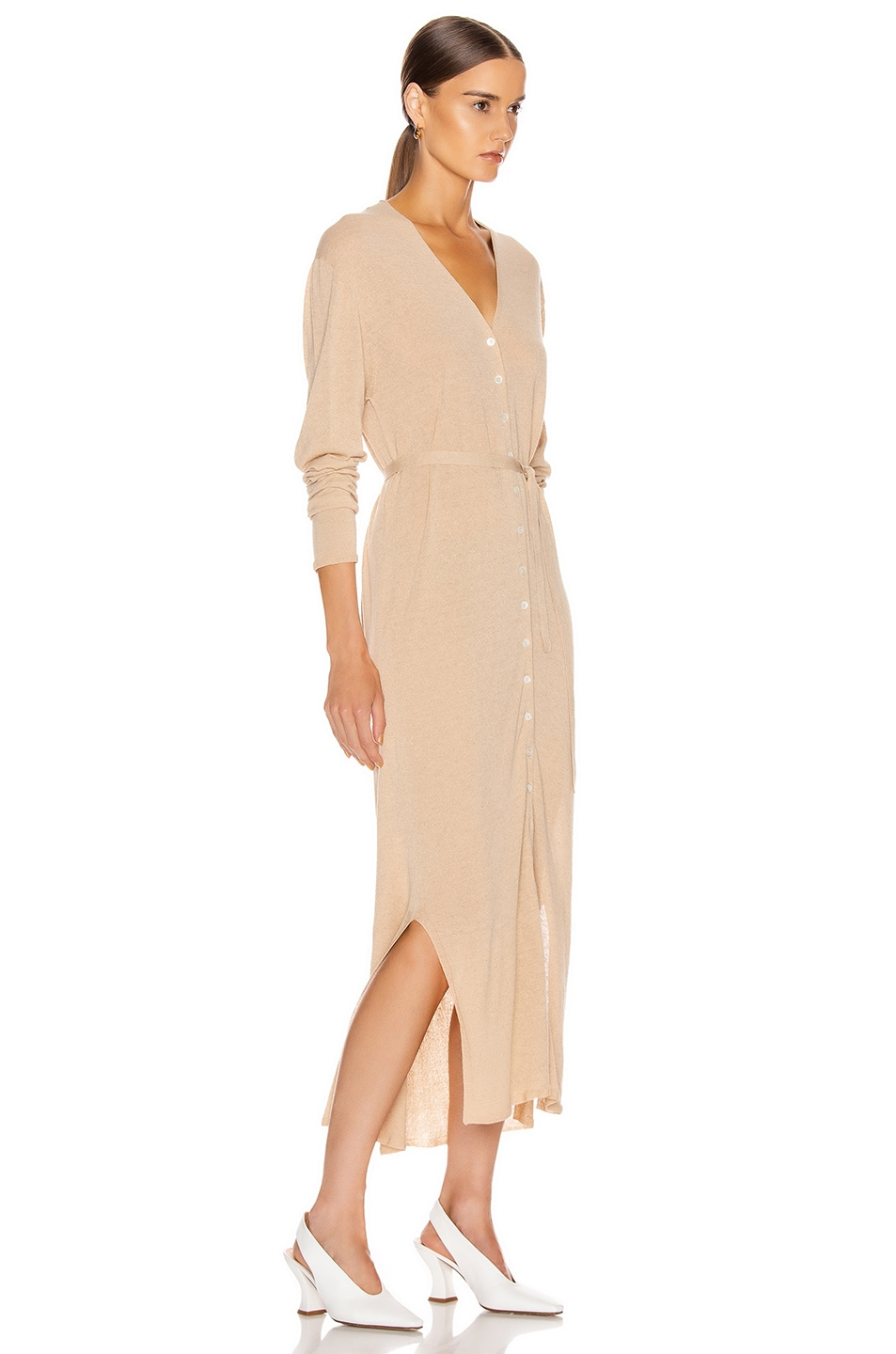 Image 2 of Lemaire Cardigan Dress in Ginger Beige