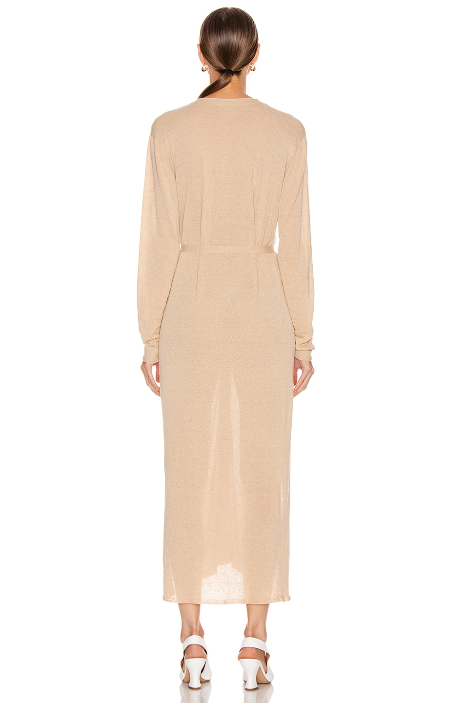 Image 3 of Lemaire Cardigan Dress in Ginger Beige