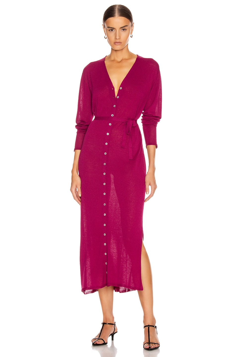 Image 1 of Lemaire Cardigan Dress in Magenta