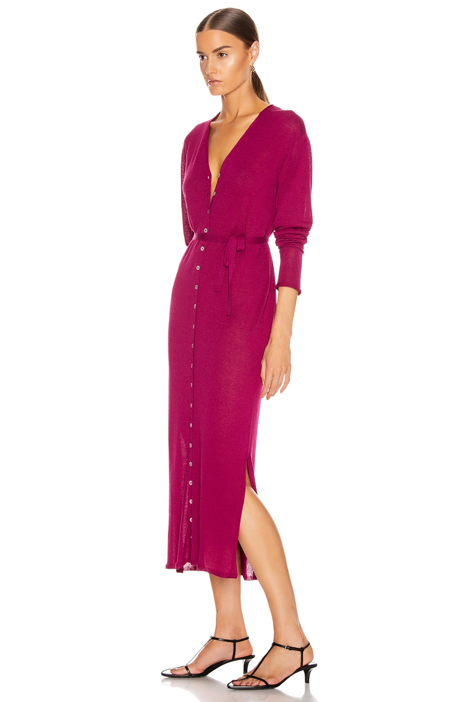 Image 3 of Lemaire Cardigan Dress in Magenta
