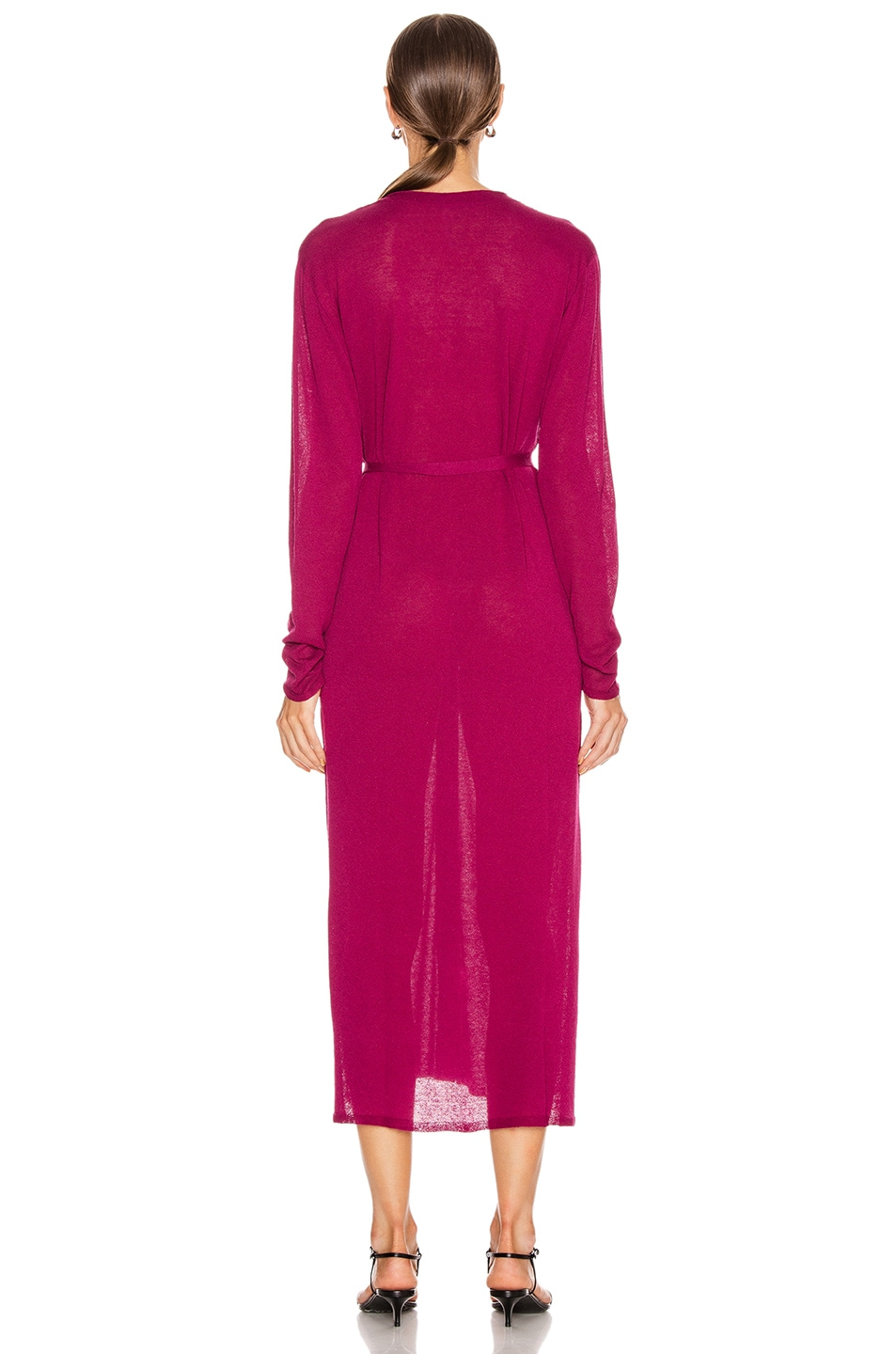 Image 4 of Lemaire Cardigan Dress in Magenta