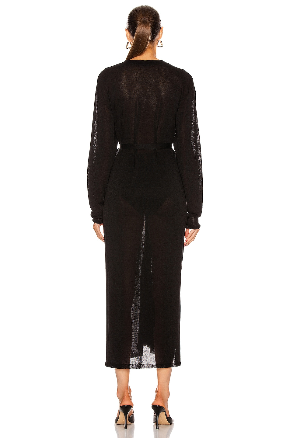 Image 3 of Lemaire Cardigan Dress in Black