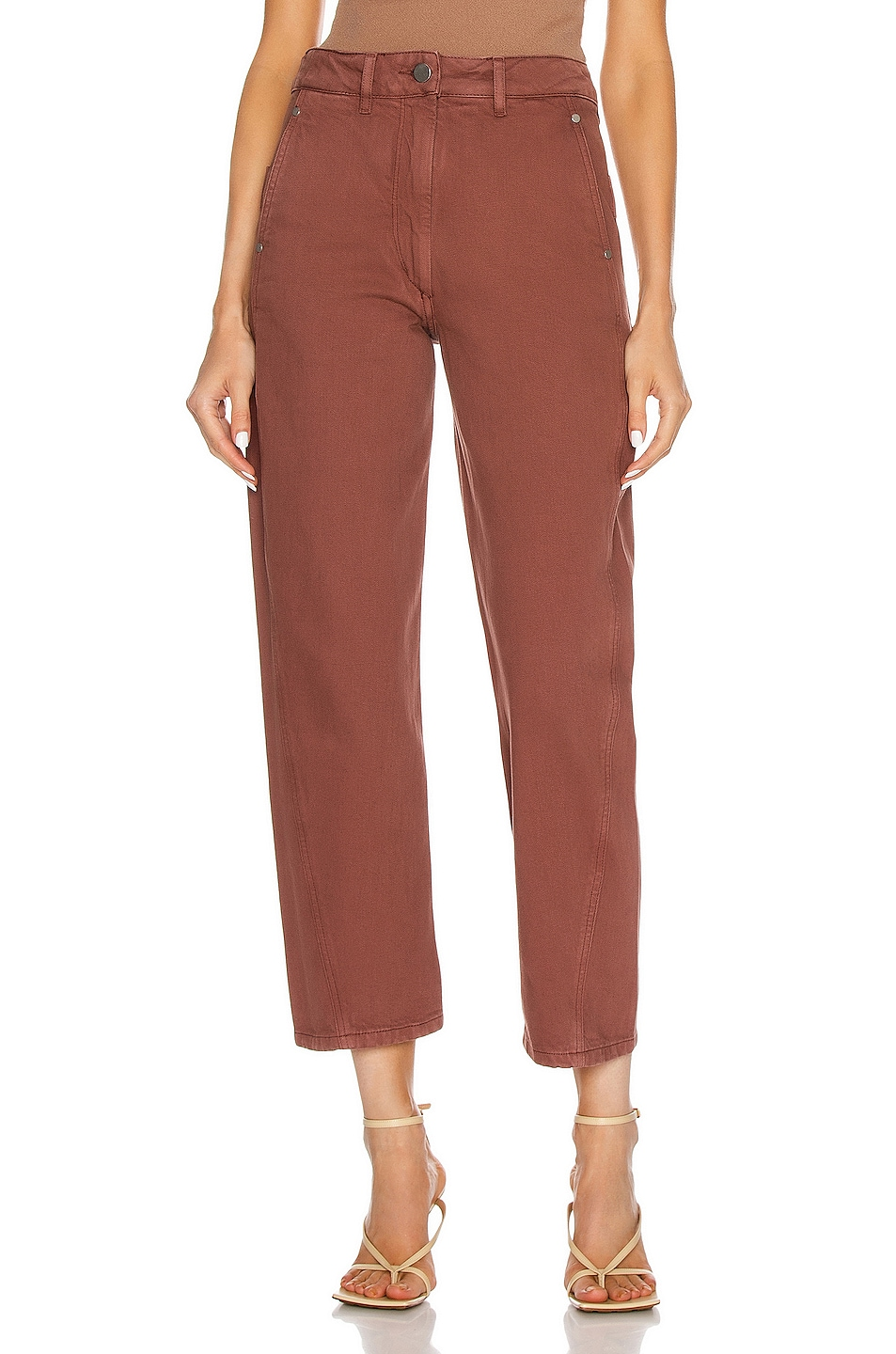 Image 1 of Lemaire Twisted Pant in Russet Brown
