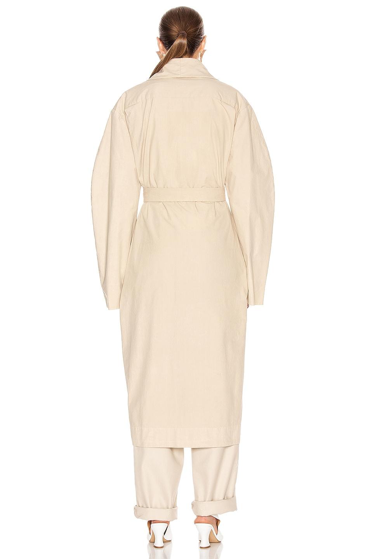 Image 4 of Lemaire Tie Maxi Coat in Mastic
