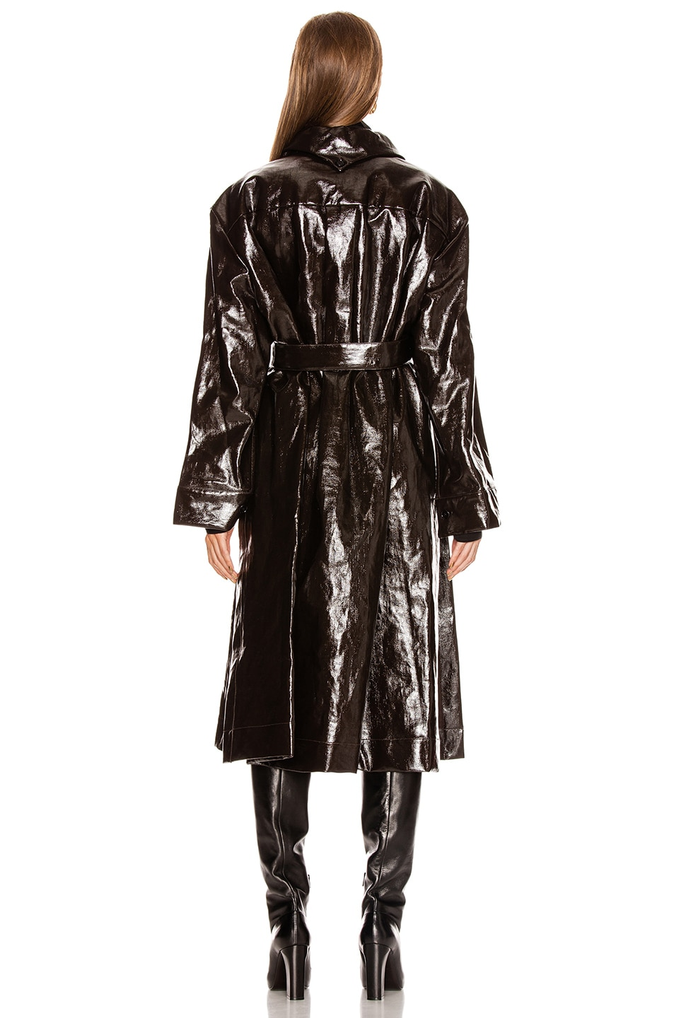 Image 5 of Lemaire Long Shirt Coat in Chocolate Torte