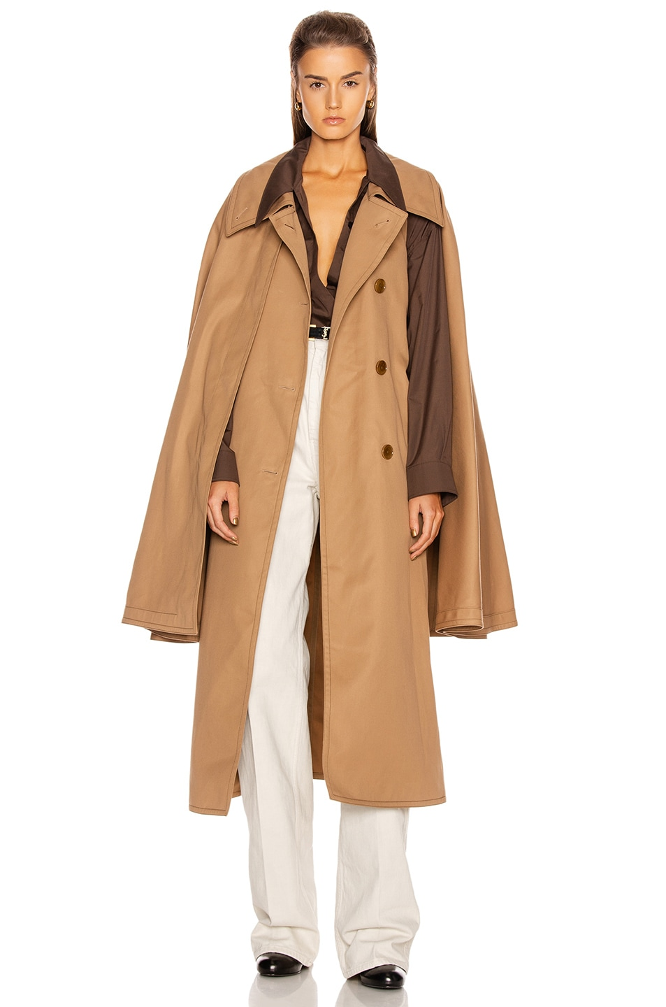 Image 1 of Lemaire Cape Coat in Mocca