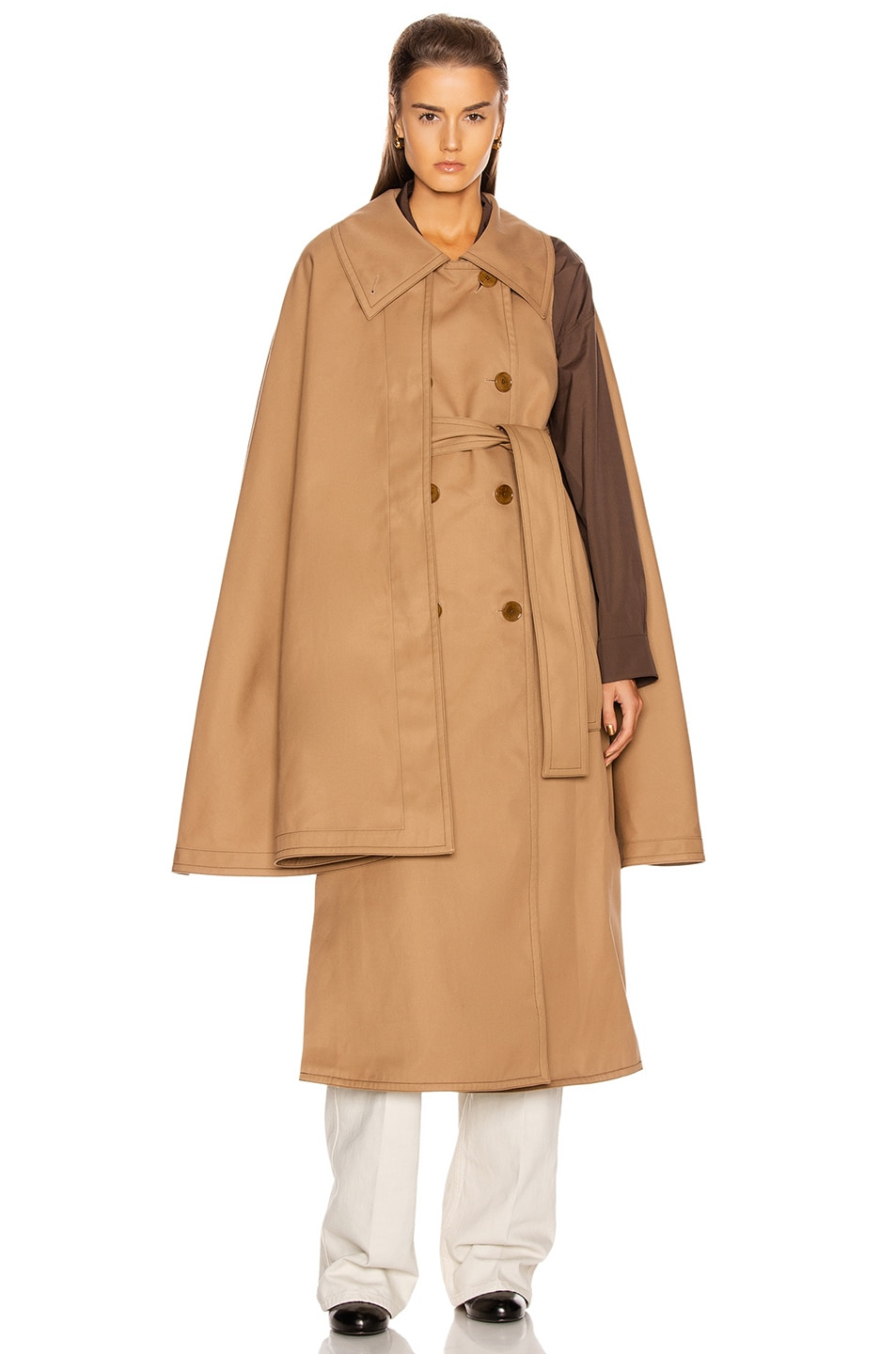 Image 2 of Lemaire Cape Coat in Mocca