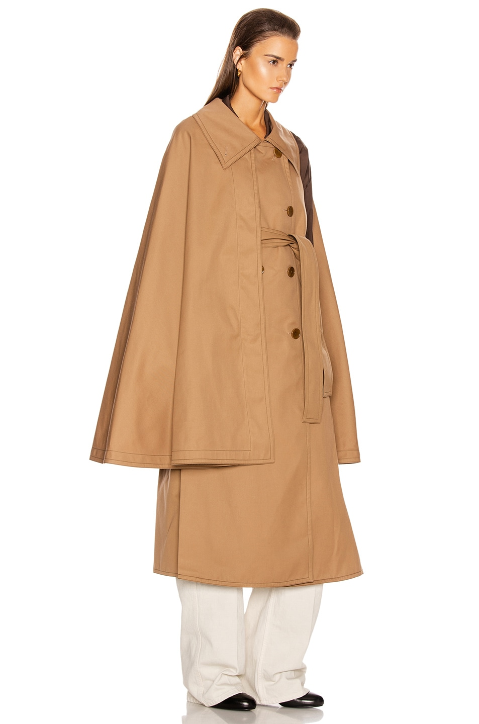Image 3 of Lemaire Cape Coat in Mocca