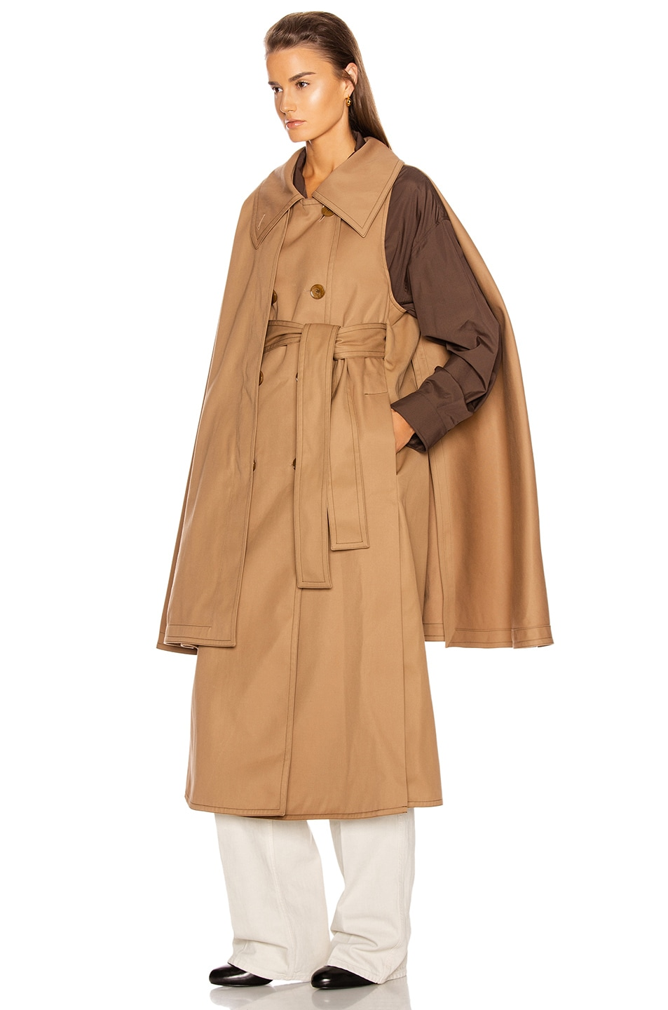 Image 4 of Lemaire Cape Coat in Mocca