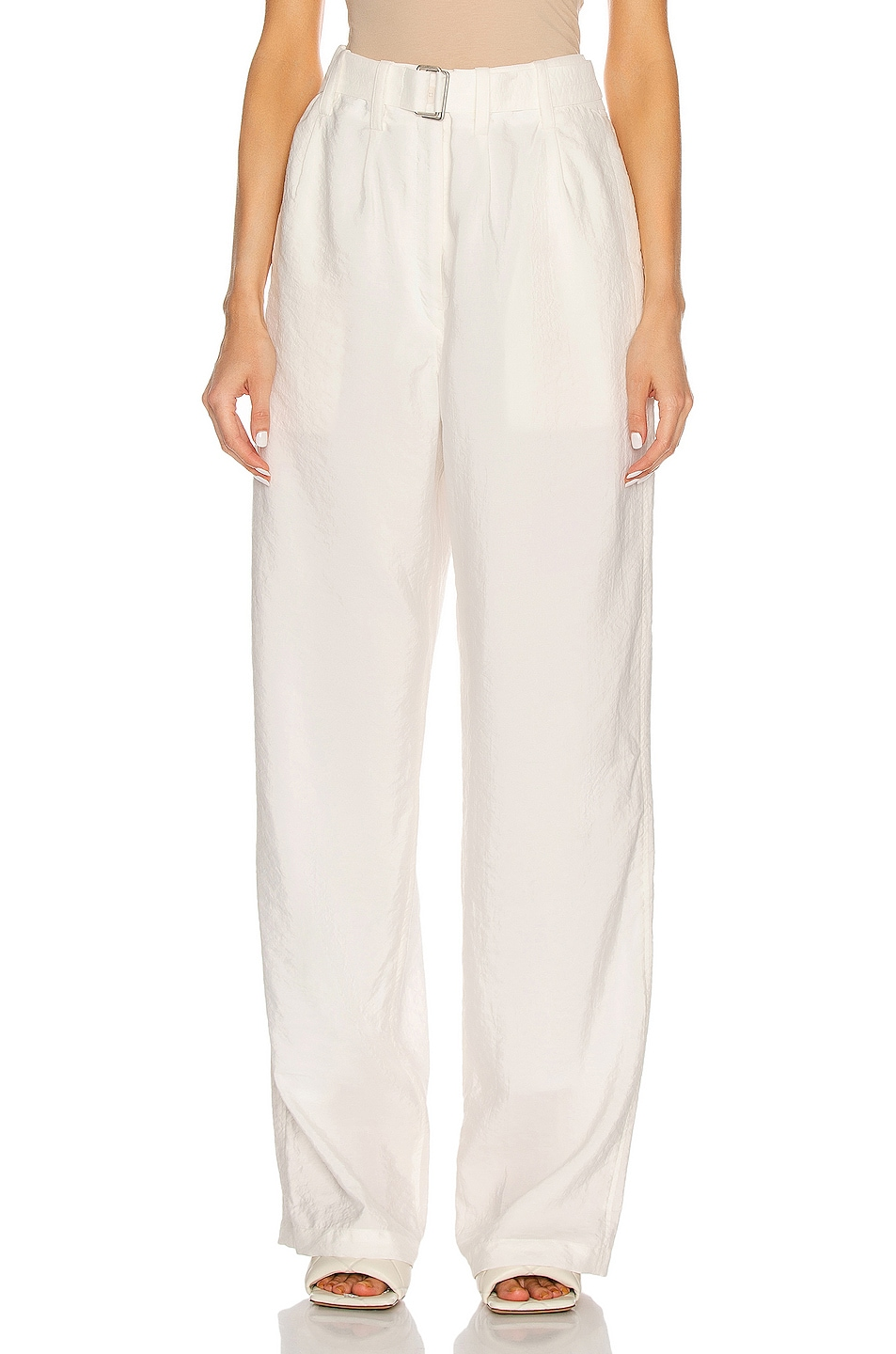 Image 1 of Lemaire Loose Pant in Chalk