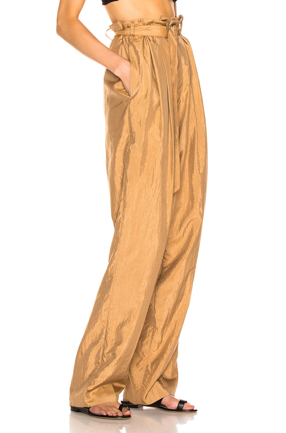 Image 2 of Lemaire Pleated Pant in Fawn Brown