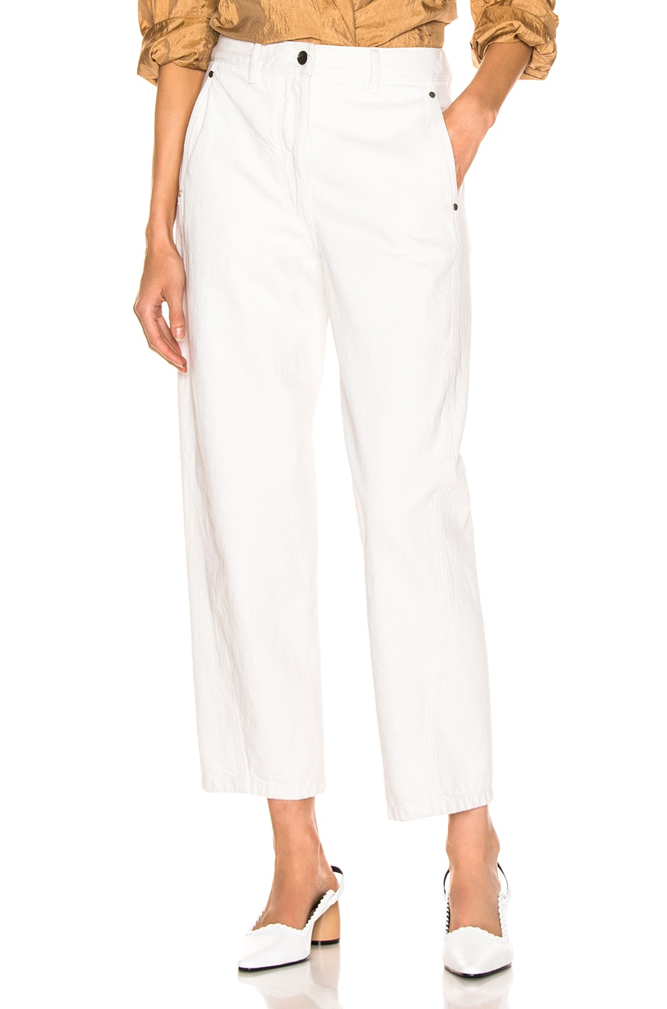 Image 1 of Lemaire Twisted Pant in Vert De Gris