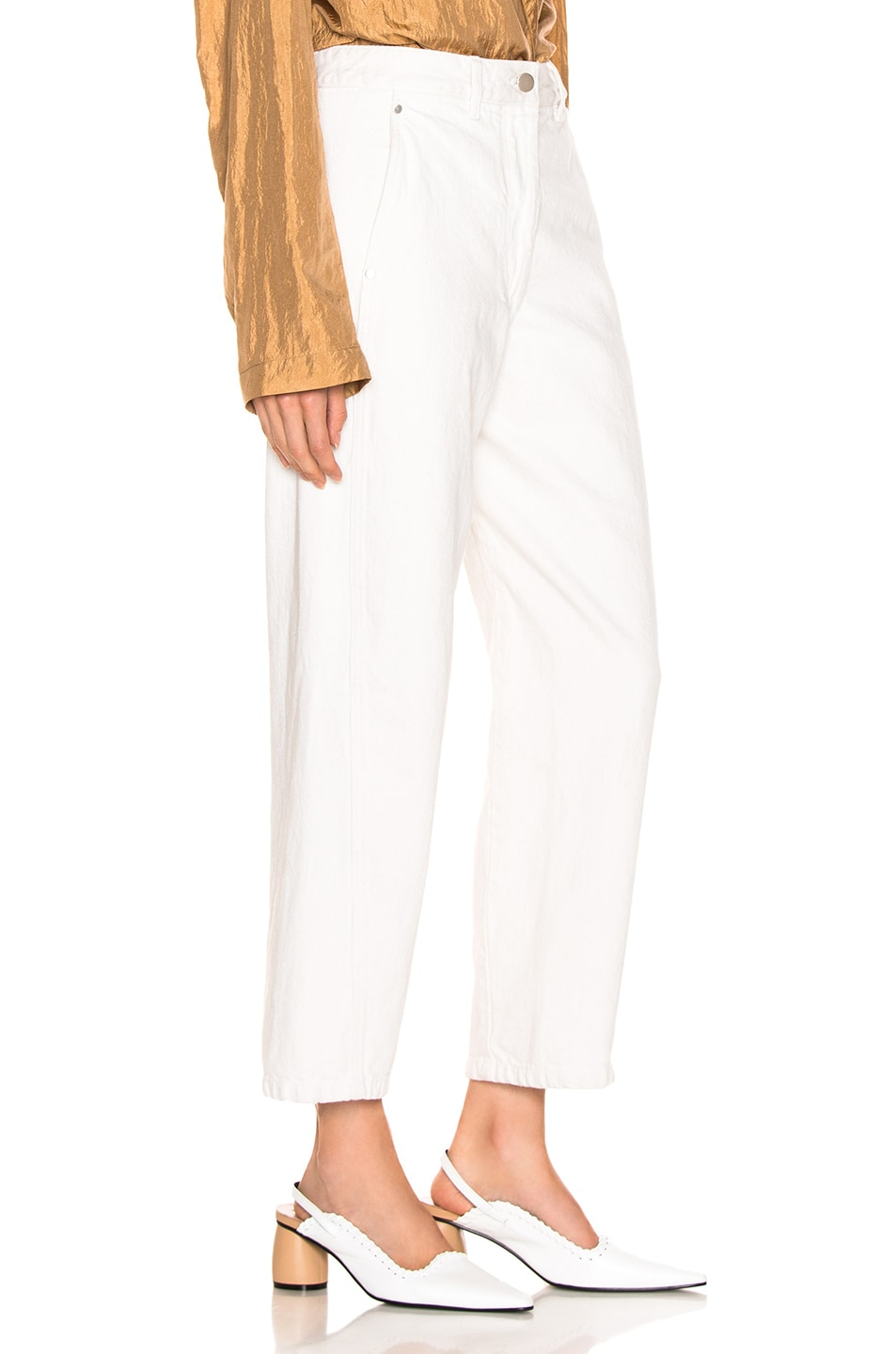 Image 2 of Lemaire Twisted Pant in Vert De Gris