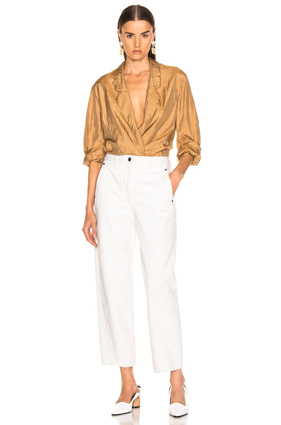 Image 4 of Lemaire Twisted Pant in Vert De Gris