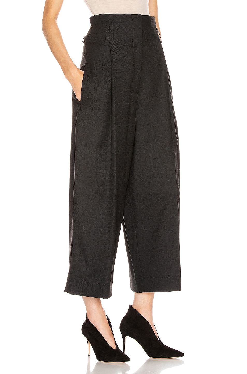 Image 2 of Lemaire High Waisted Tailored Pant in Black