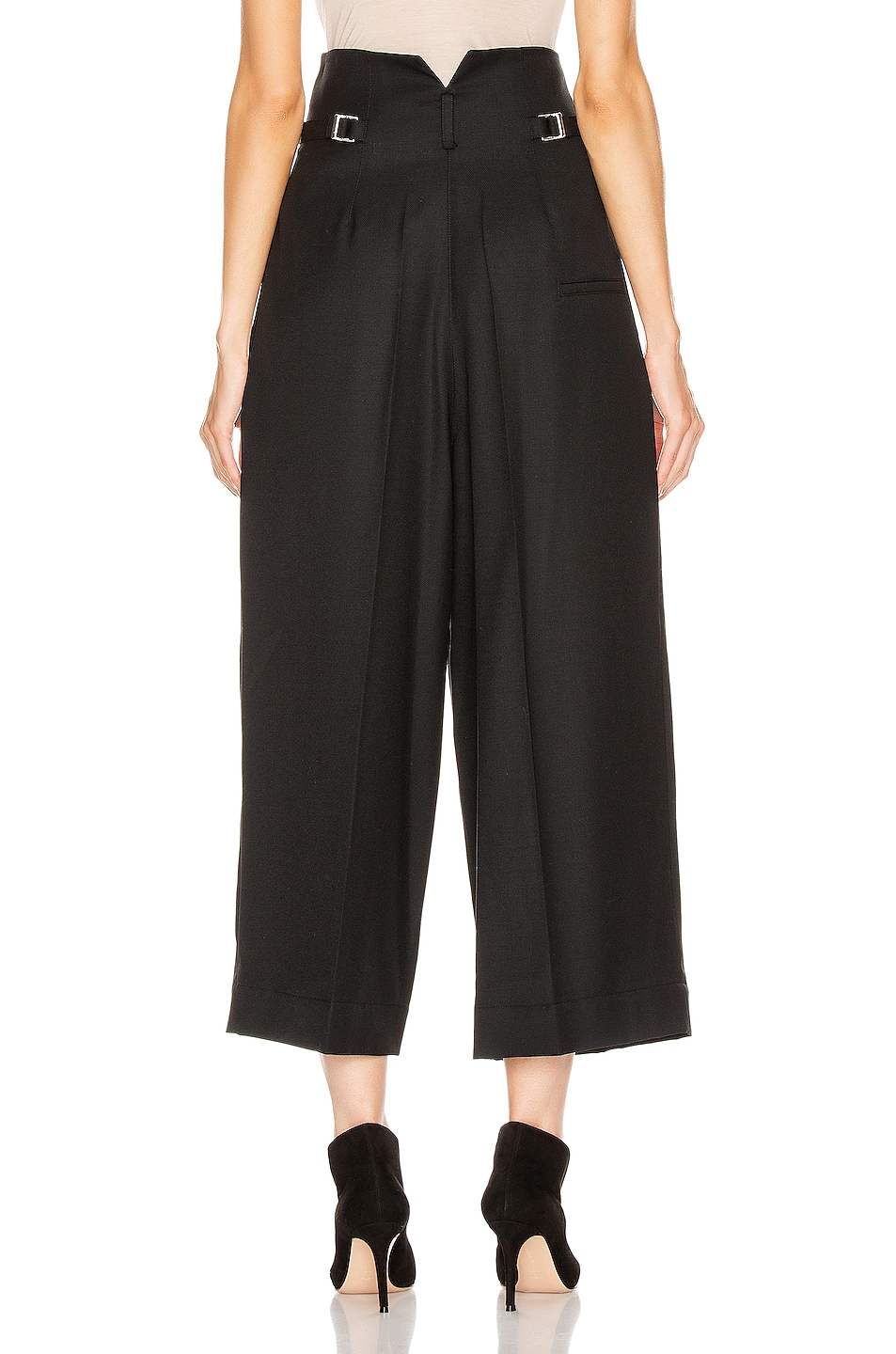 Image 3 of Lemaire High Waisted Tailored Pant in Black