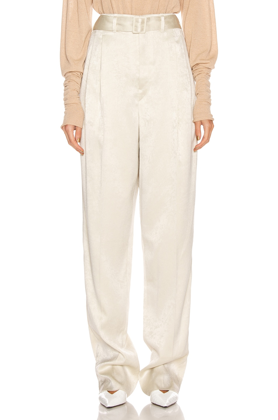 Image 1 of Lemaire Pleated Pant in Pearl