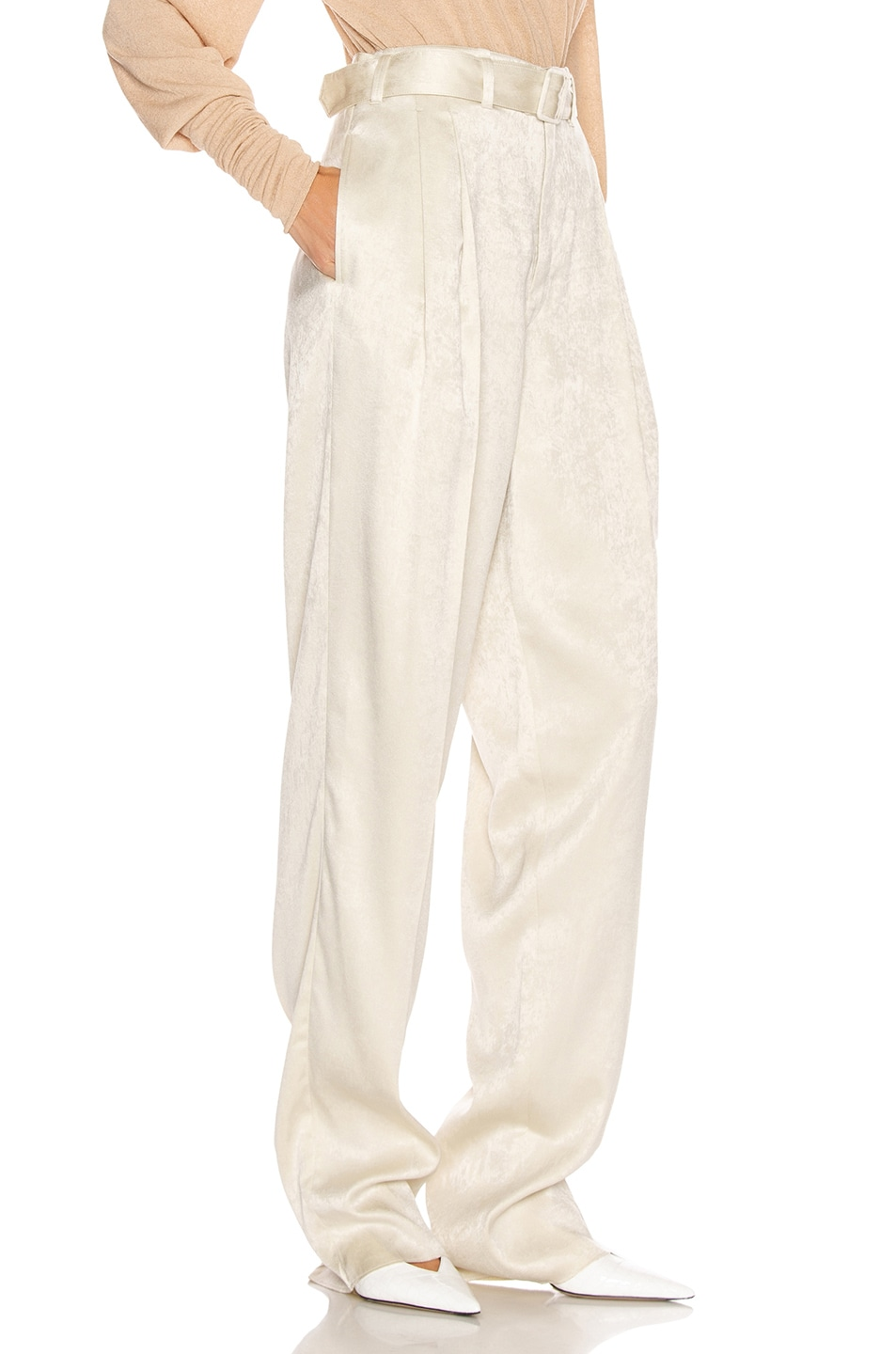 Image 2 of Lemaire Pleated Pant in Pearl