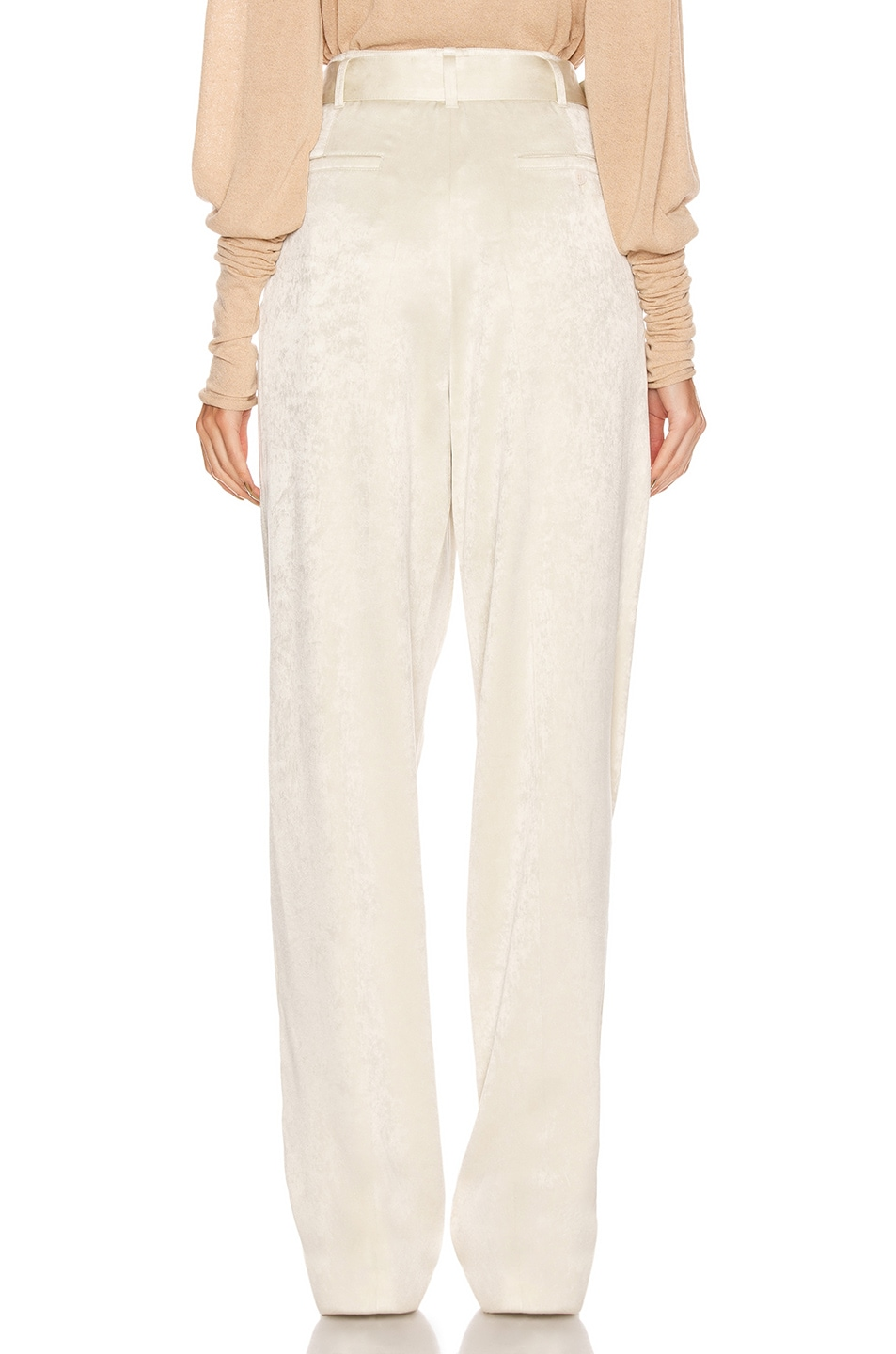 Image 3 of Lemaire Pleated Pant in Pearl