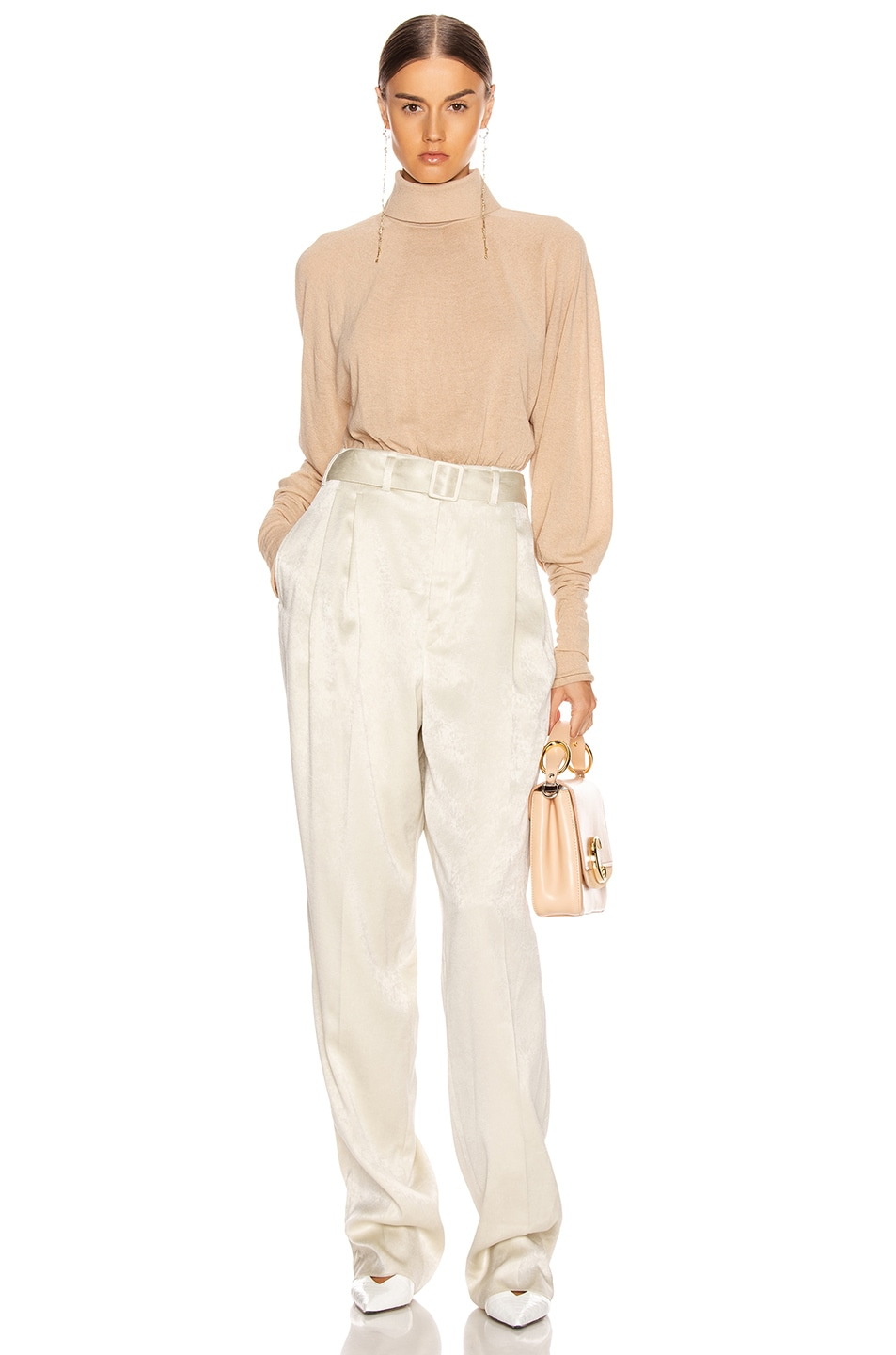 Image 4 of Lemaire Pleated Pant in Pearl