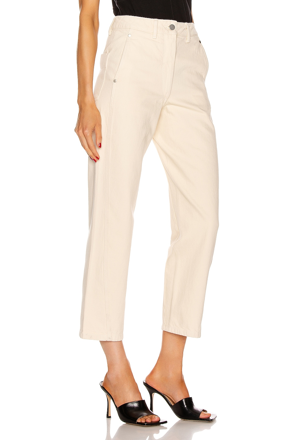 Image 2 of Lemaire Twisted Pant in Cream