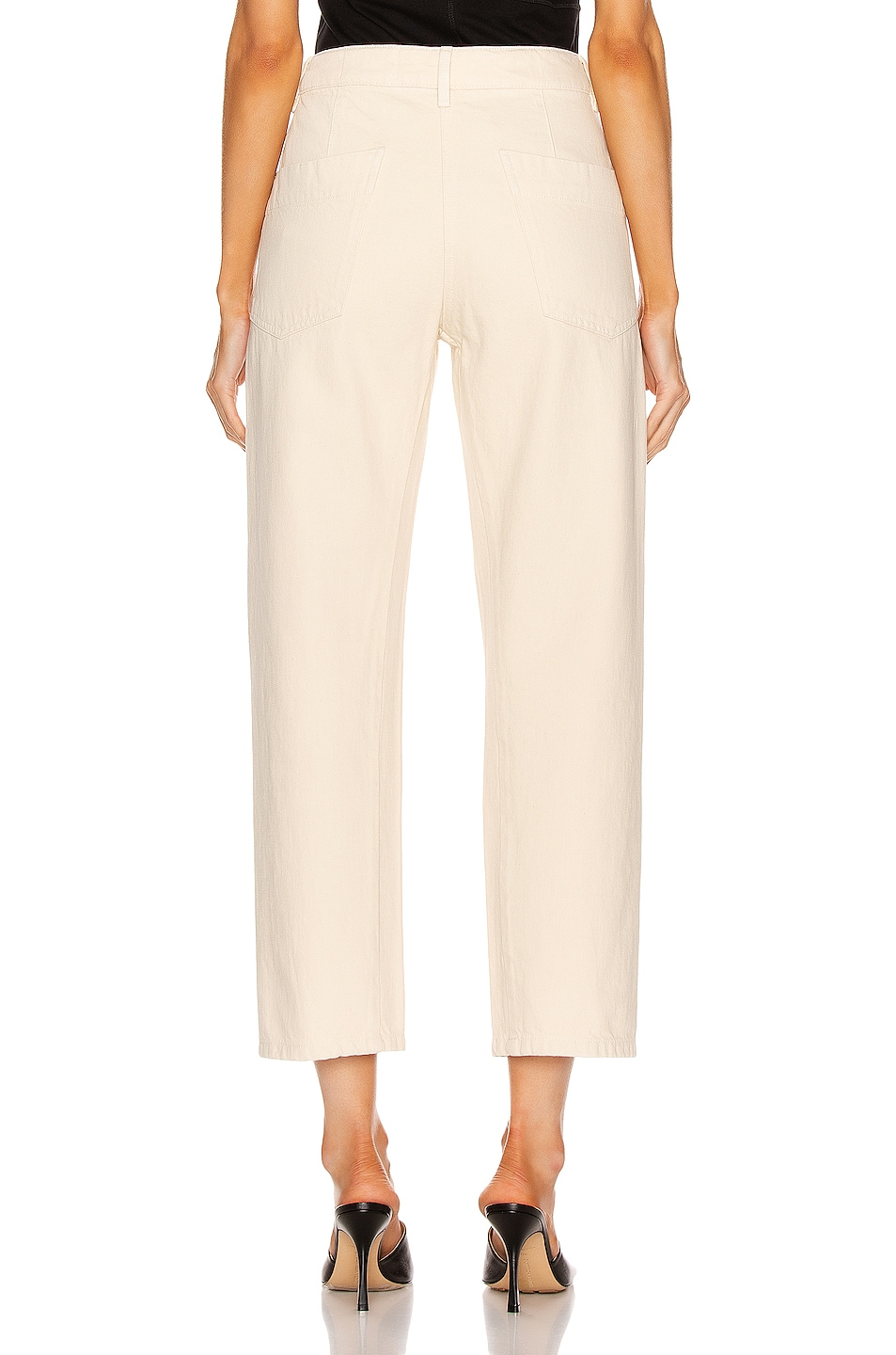 Image 3 of Lemaire Twisted Pant in Cream