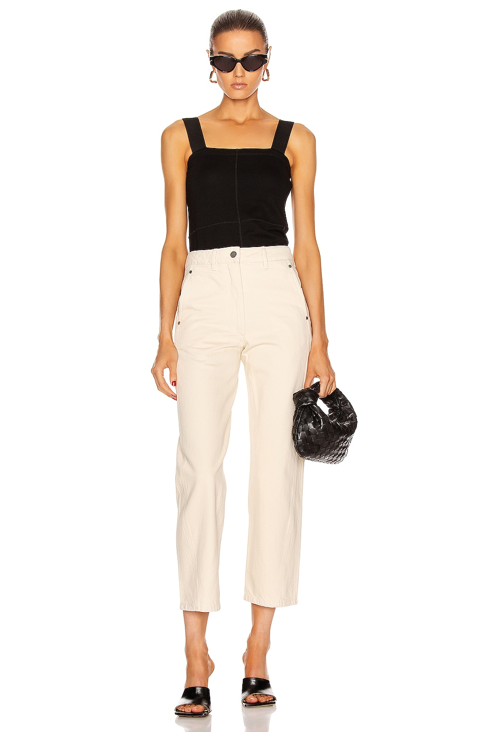 Image 4 of Lemaire Twisted Pant in Cream