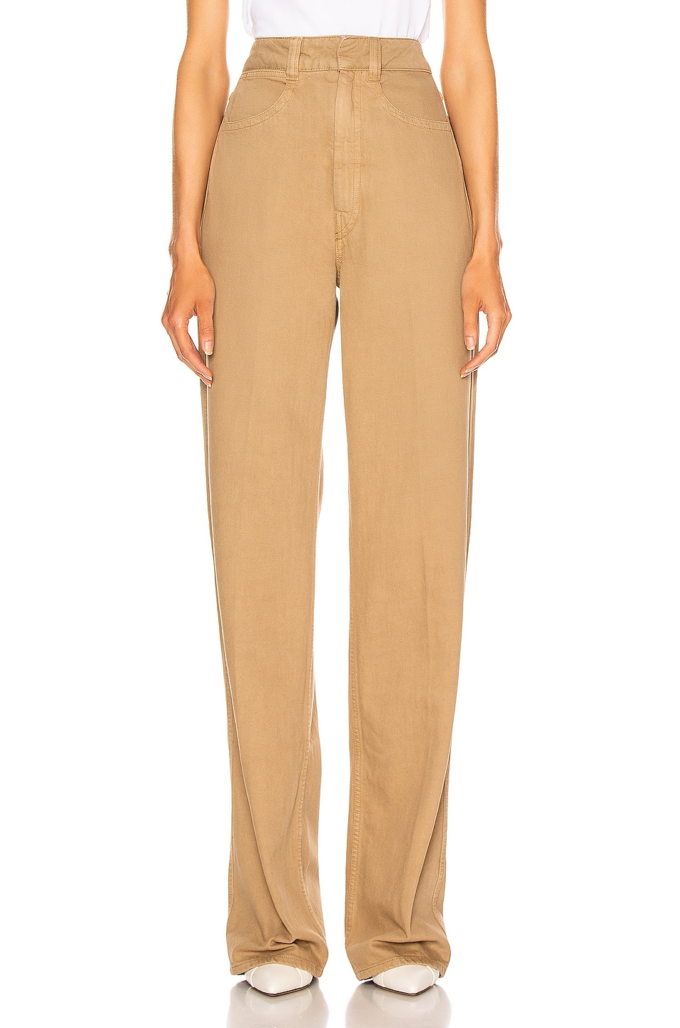Image 1 of Lemaire Denim Pant in Beige