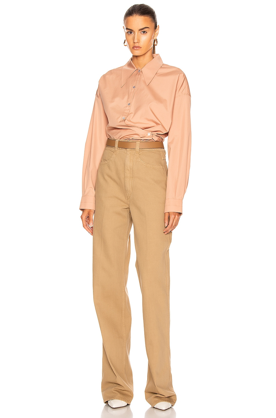Image 4 of Lemaire Denim Pant in Beige