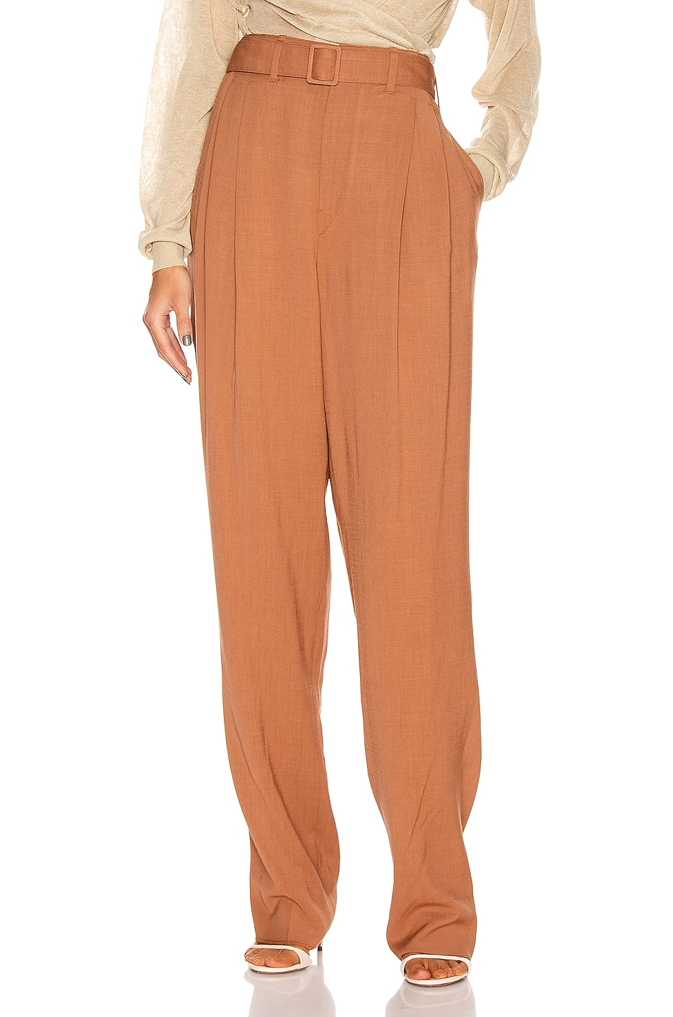 Image 1 of Lemaire Pleated Pant in Copper