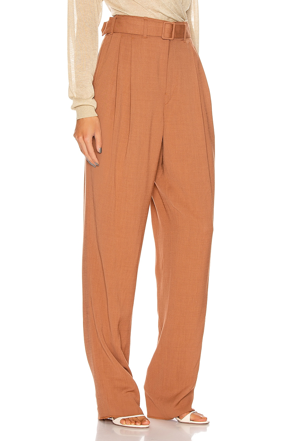 Image 2 of Lemaire Pleated Pant in Copper
