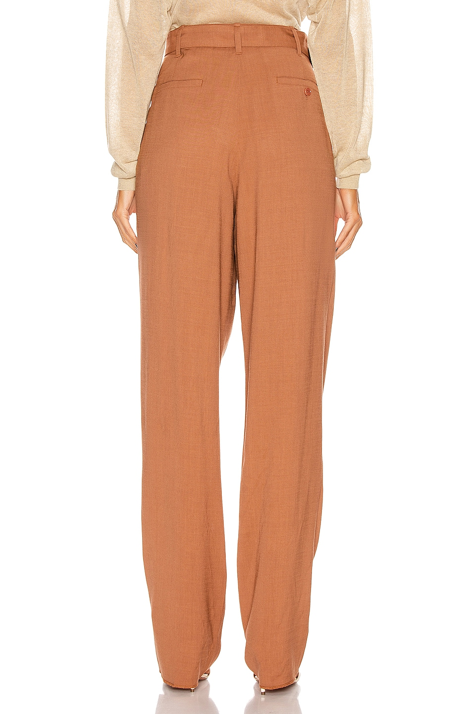 Image 3 of Lemaire Pleated Pant in Copper