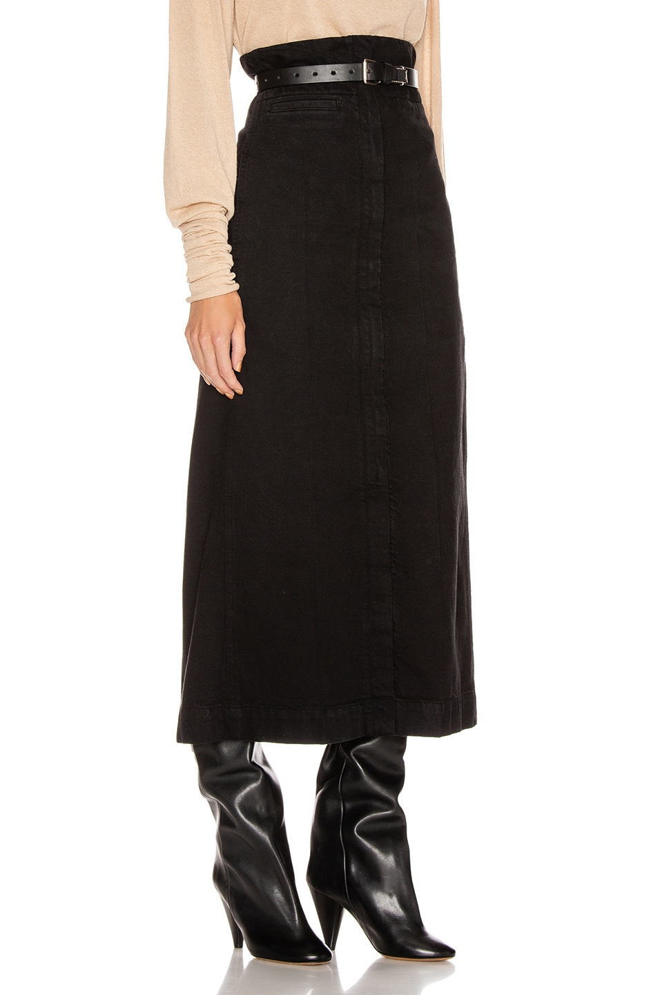 Image 2 of Lemaire High Waisted Skirt in Black