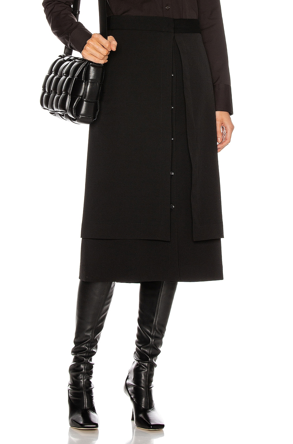 Image 1 of Lemaire Double Skirt in Black