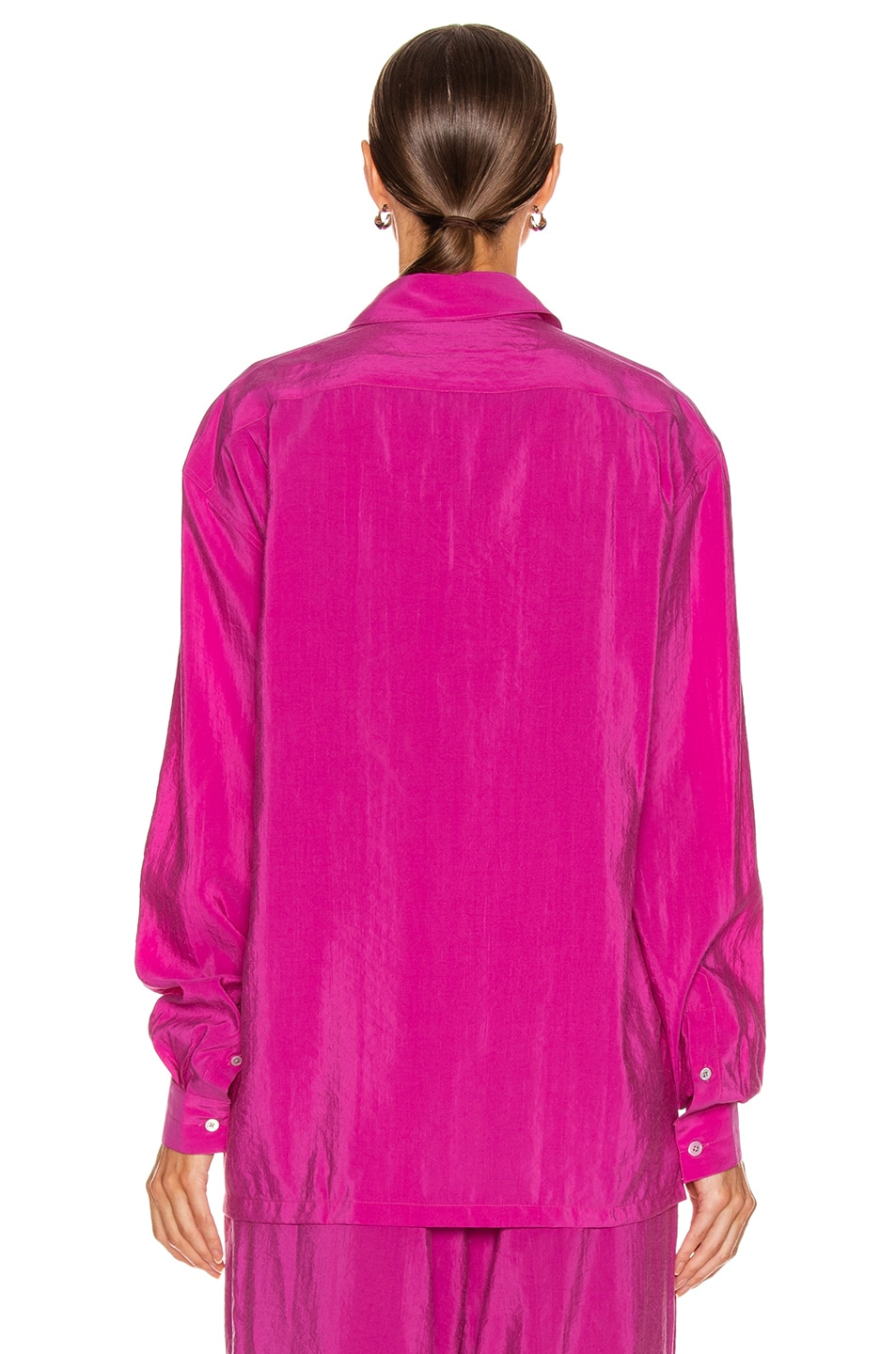 Image 3 of Lemaire Military Shirt in Fuchsia
